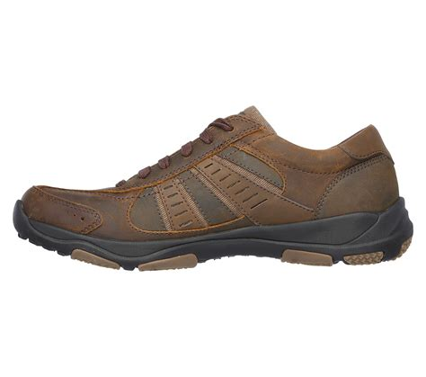 skechers comfort construction skechers relaxed fit larson oxford brown rudolph