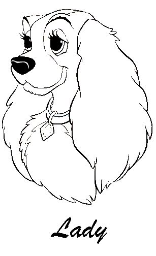 disney coloring pages lady and the tr free coloring pages of lady disney