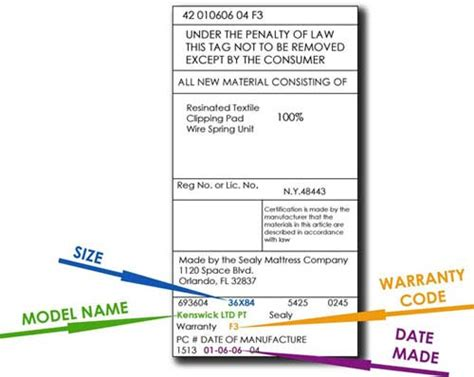 Mattress Tags by How To File A Mattress Warranty Claim Sleep Outfitters