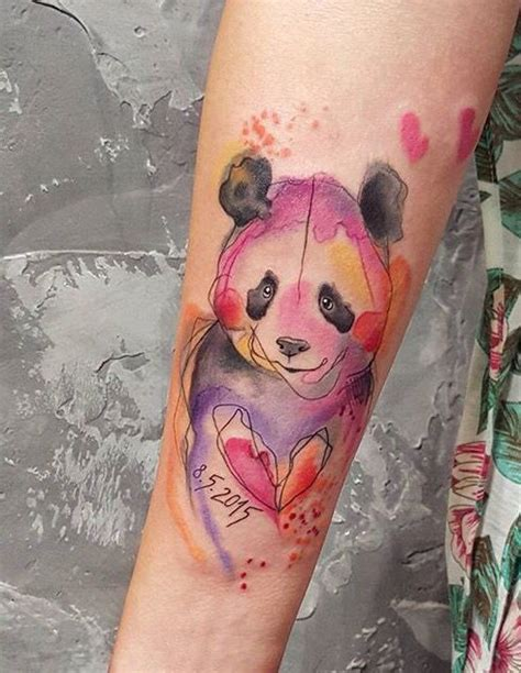 watercolor tattoo europe simona blanar watercolor panda eastern europe