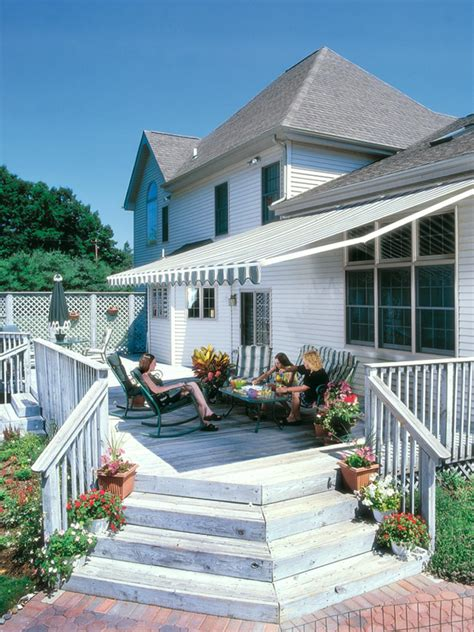 Awning For Back Of House Shading Your Deck Outdoor Design Landscaping Ideas