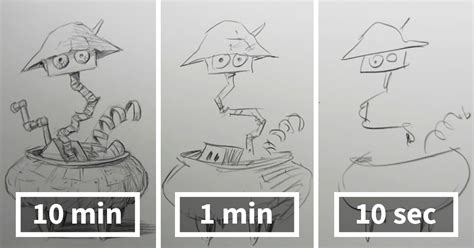 1 Drawing Per Day by Speed Drawing Challenge Asks Artists To Sketch In 10 Mins