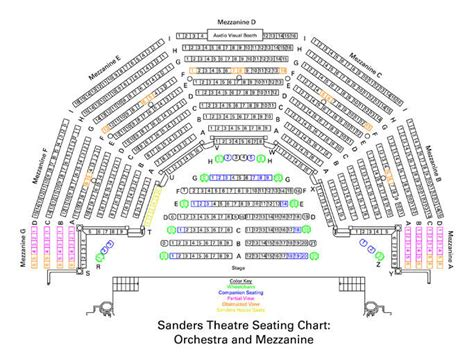 theatre royal seating chart sanders theatre seating charts office for the arts at