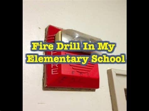 alarm going alarm going in elementary school