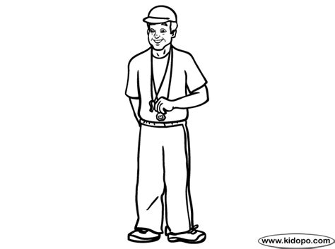 football coach coloring page free coloring pages of coach