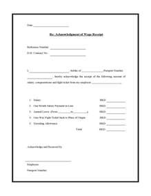 Salary Receipt Template Simple Salary Receipt Template Samples Vlashed