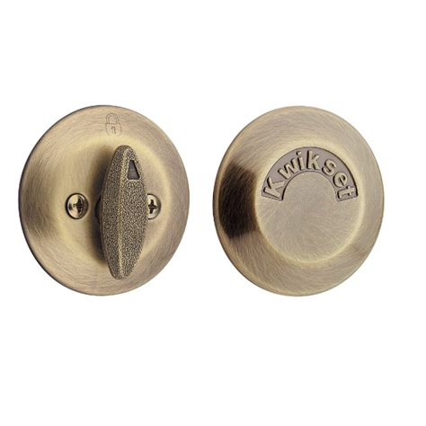 Door Knobs And Deadbolts by Kwikset 667 One Sided Deadbolt With Exterior Plate Low