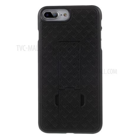 grid pattern iphone case grid pattern plastic belt clip kickstand holster phone