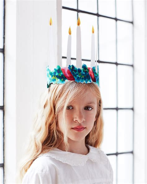 sweden holiday craft for kids santa lucia day celebration free crown printables sweet paul magazine