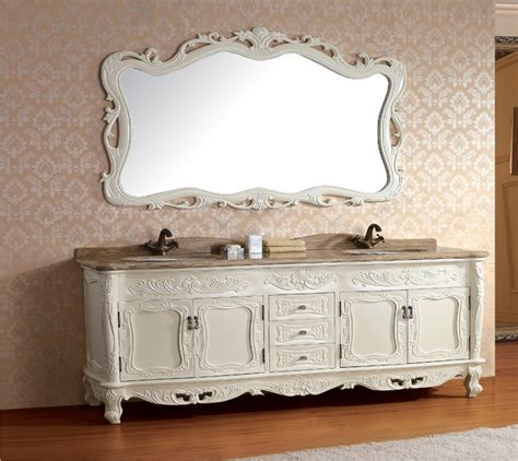 Antique Bathroom Furniture Solid Wood Antique Bathroom Cabinet With Mirror And Sink Classic Bathroom Vanity Bathroom