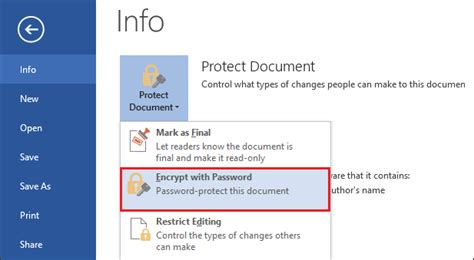 How To Password Protect A Word Document On Mac