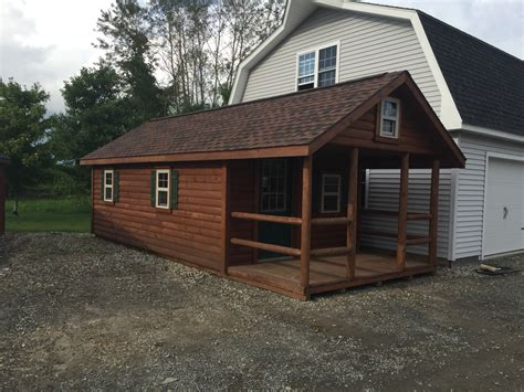 12x26 log cabin cape in stock sheds storage buildings
