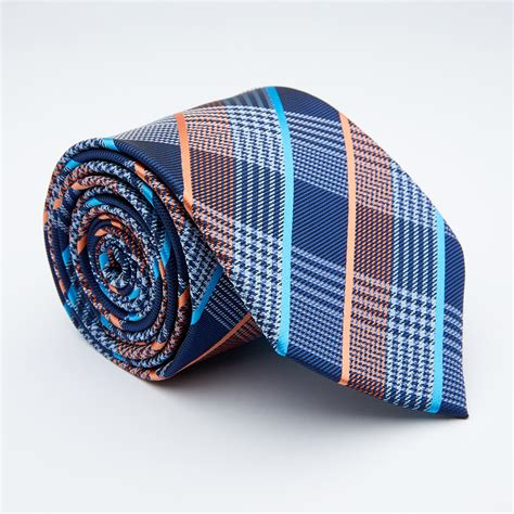 Handmade Tie - handmade tie multicolor cross stripe blanc touch of