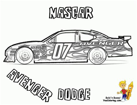 get this free printable nascar coloring pages for children