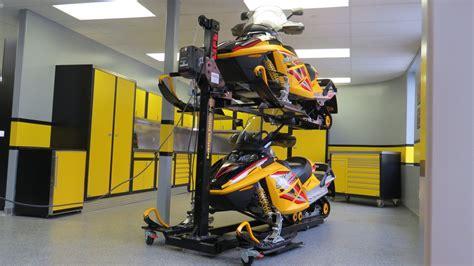 atv stacker storage rack saskatoon custom garage interiors inc
