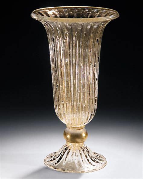 venetian glass vase venetian glass vase blown clear and gold