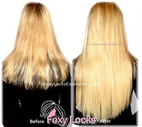 foxy clip in hair extensions before after gallery foxy locks ltd official site
