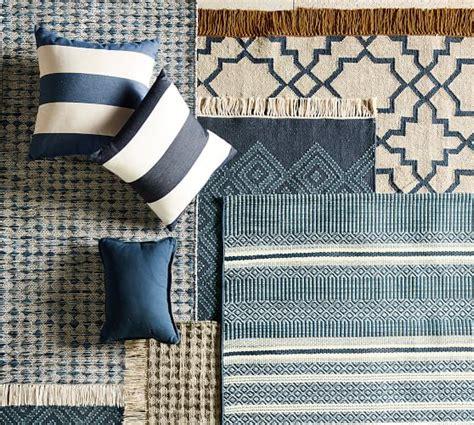 indoor outdoor rugs pottery barn indoor outdoor rug blue pottery barn