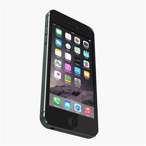apple iphone 5 all color 3d model max obj cgtrader