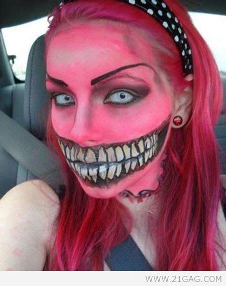 Or Creepy Smile Pink Big Smile Creepy Theatrical Image 508589 On Favim