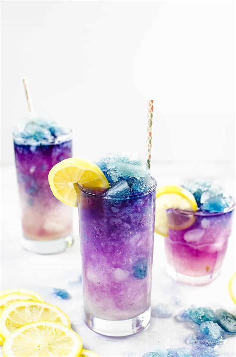 changing color color changing lemonade slushie galaxy lemonade slushie