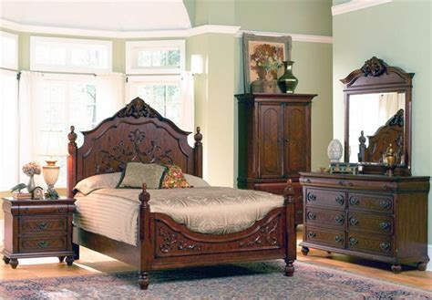 poster bed in oak finish by coaster 200511q