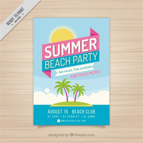 summer c brochure template summer brochure with island vector free