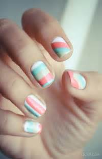 colored nails cool color block nail designs hative
