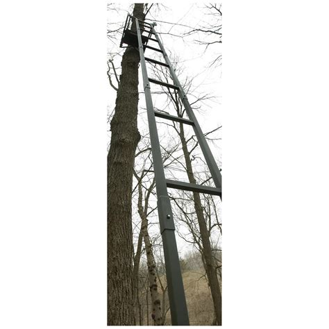 tree stands guide gear 18 brush ladder tree stand 592971 ladder