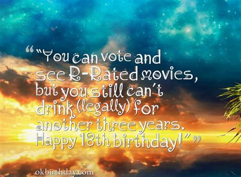 18 Year Birthday Quotes 18 Year Old Birthday Quotes Birthday Wishes Quotes