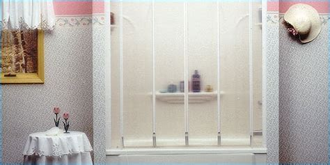 bathtub doors trackless sliding frameless glass shower door