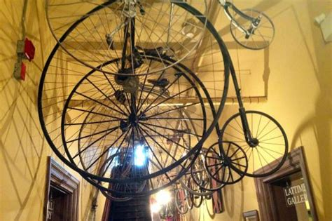 cool bicycles hanging from ceiling picture of huron