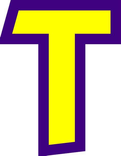 Letter T Clip Art at Clker.com - vector clip art online ... T