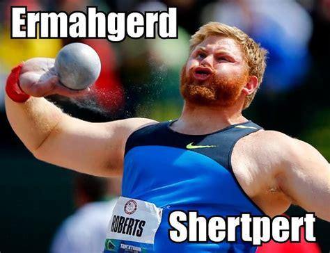 Meme Shot - ermahgerd shertpert funny shot put face ermahgerd meme
