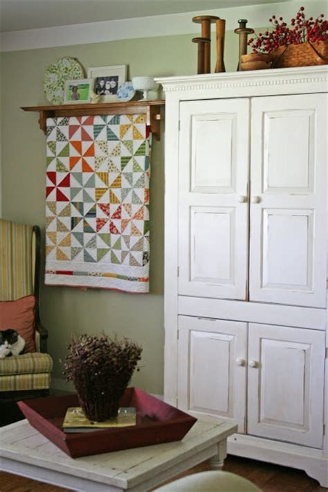 Armoire Quilts by The Finish On This Armoire Quilt Racks