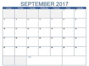 Calendar September 2017 Printable Pdf September 2017 Calendar Pdf