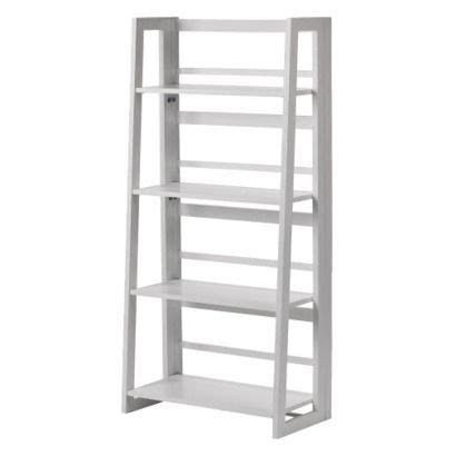 linon dolce 4 shelf folding bookcase white