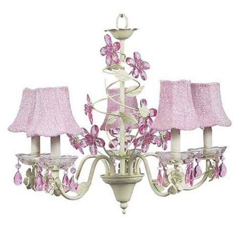Pink And Green Chandelier Jubilee Collection Flower Soft Green And Pink Five Light Chandelier With Glass Bead On