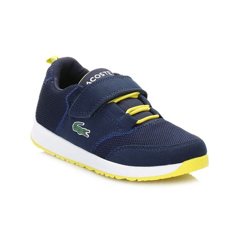 spc 2 5 running shoes spotec lacoste unisex toddlers navy blue trainers l ight 117 1