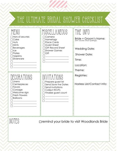 Bridal Shower Planning Templates 6 best images of bridal shower checklist template