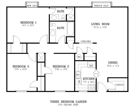 average square footage of a 3 bedroom apartment average square footage of a 3 bedroom apartment