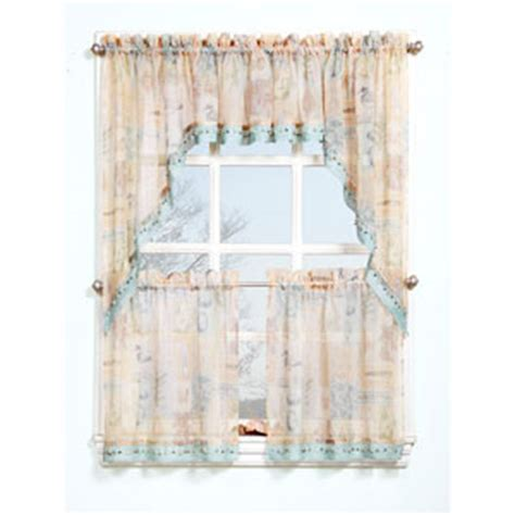 seascape curtains seascape print w beads curtain collection boscov s