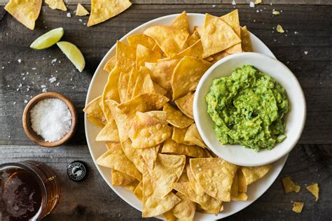 How to Make Baked Tortilla Chips | Healthy Nibbles Guacamole And Tortilla Chips Healthy