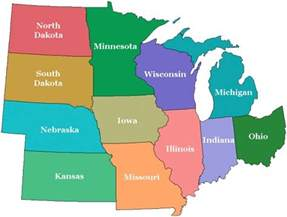 Map Of The Midwest United States by Midwest Map Regional City Maps Of The United States