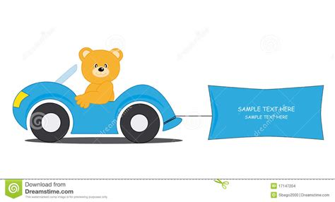 bear driving a car stock vector image of arrival