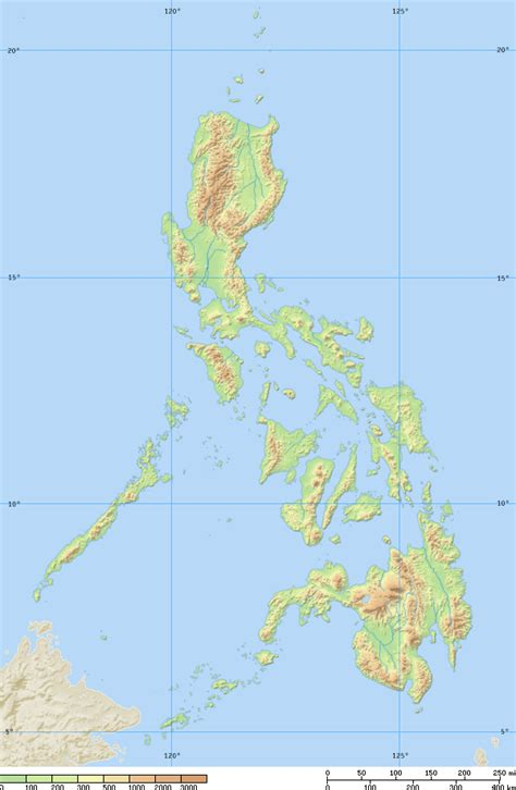 physical map of philippines philippines physical map