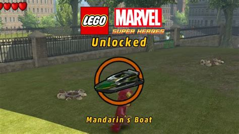 lego marvel boat unlock lego marvel unlock mandarin s boat 2nd groot mission youtube
