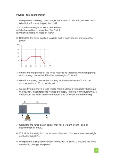 And Motion Worksheets by Physics Worksheet Interactive Worksheet