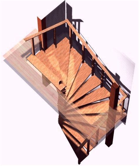Wood Spiral Staircase Plans Spiral Stair Plans Spiral Stairs Crafted In Wood