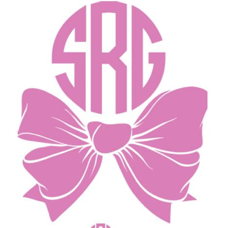 bow decal monogram vinyl bow decal for car